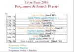 Programme Livre Paris Samedi
